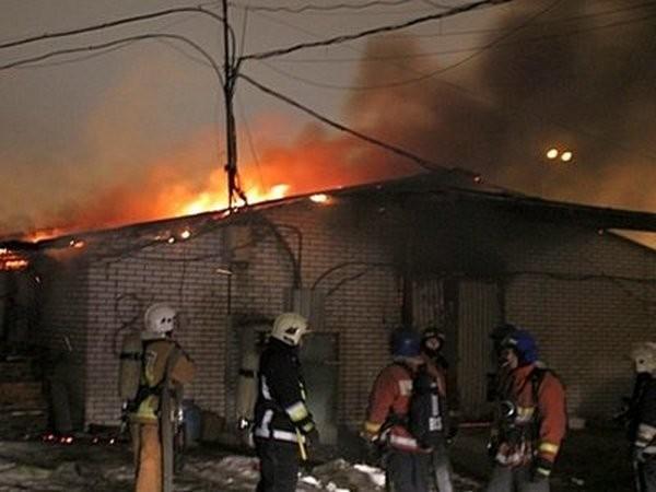 Пожар на Калининской овощебазе