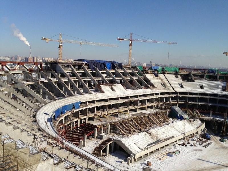 Генподрядчик «Зенит-Арены» приостановил строительство стадиона